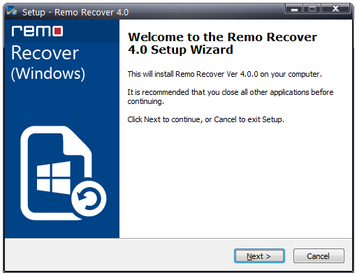 Partition Recovery - Installation-screen-2